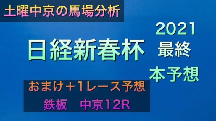【競馬予想】 日経新春杯 2021 最終本予想