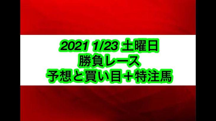 【競馬予想】2021 1/23 土曜日 勝負レース 予想と買い目+特注馬