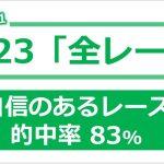 競馬予想 2021/1/23 全レース 【複勝コロガシ 3コロ成功率 50%】