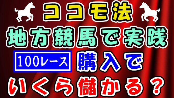 【競馬検証】ココモ法 競馬で実践!100レース購入でいくら儲かる? 2021.2/17 姫路競馬 大井競馬 地方競馬