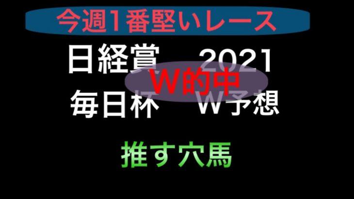 【競馬予想】 日経賞 毎日杯 2021 予想