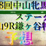 【競馬予想】第39回中山牝馬ステークスGⅢ&中山9R鎌ヶ谷特別
