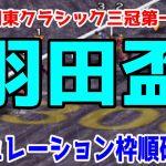 2021 羽田盃 シミュレーション 枠順確定【競馬予想】地方競馬