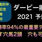 【競馬予想】 ダービー卿チャレンジトロフィー 2021 予想 ダービー卿CT