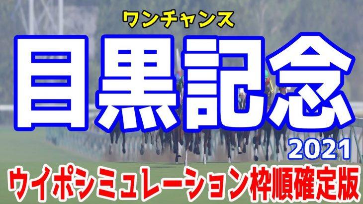 目黒記念2021 枠順確定後ウイポシミュレーション 【競馬予想】