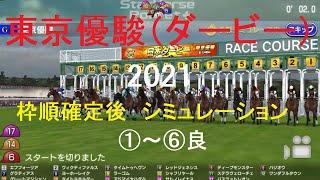【競馬予想2021】東京優駿(日本ダービー)(GⅠ)シミュレーション枠順確定後6パターン(①~⑥良)【スタポケ】20210529