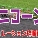 ユニコーンステークス2021 枠順確定後シミュレーション 【競馬予想】
