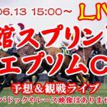 【競馬ライブ】函館スプリントS&エプソムC2021予想&観戦ライブ