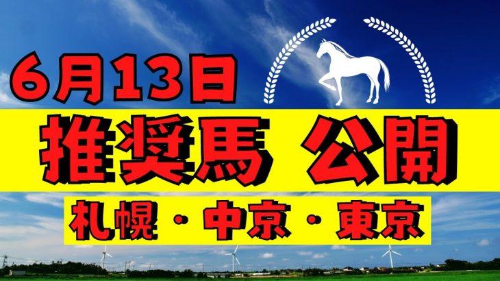 【週間競馬予想TV】2021年6月13日(日) 中央競馬全レースの中から推奨馬を紹介。札幌・中京・東京の平場、特別戦、重賞レース。POG候補馬紹介!注目馬を考察。