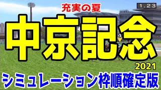 中京記念2021 枠順確定後シミュレーション 【競馬予想】