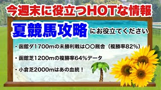 夏競馬を攻略!函館・小倉のHOTな情報
