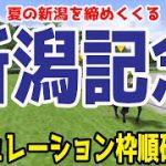 新潟記念2021 枠順確定後シミュレーション 【競馬予想】