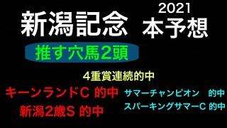 【競馬予想】 新潟記念 2021 本予想