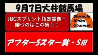【競馬予想】アフター5スター賞SⅢ2021年9月6日 大井競馬場