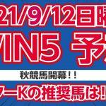 【WIN5予想】秋競馬開幕!!ミスターKの推奨馬は!?【競馬予想】