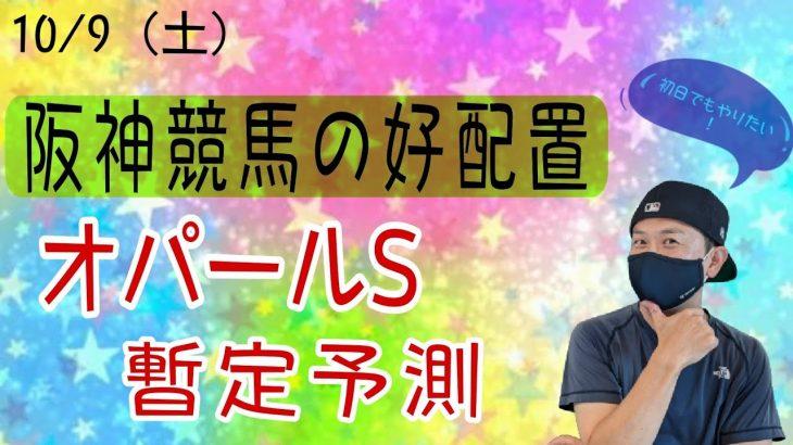 【競馬】10月9日(土)阪神競馬の出馬表からの騎手、厩舎、種牡馬の好配置発表!暫定予測は11RオパールSです。初日ですが狙います!