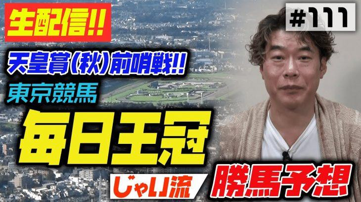 #111【東京競馬】毎日王冠でのじゃいの思考【勝ち馬予想】