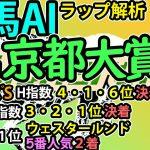 【京都大賞典2021】競馬AI・ラップ解析ソフトMonarchによる予想【ヨルゲンセンの競馬】